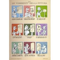 """Foglio erinnofilo Le """"correnti"""" della pittura (Vincenzo Zapparoli)"""